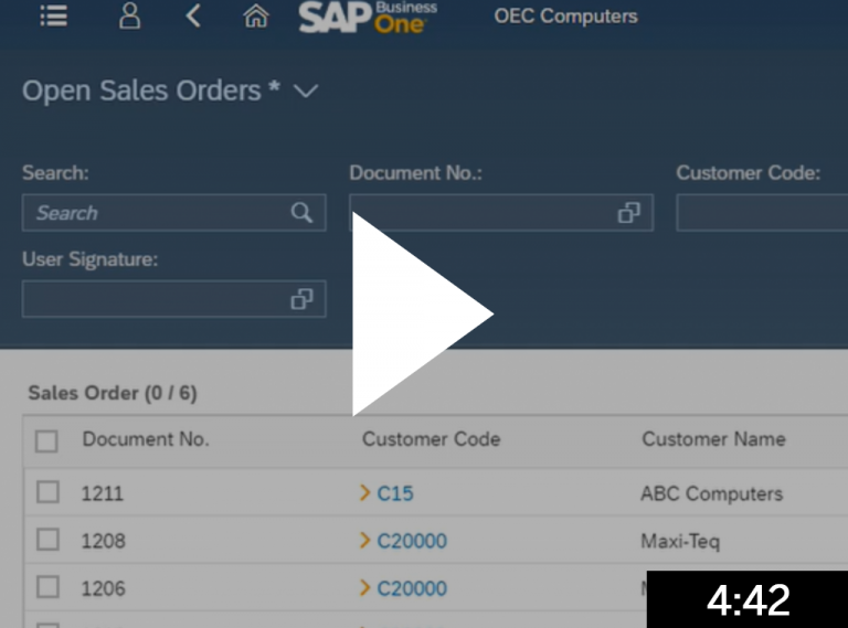 Manage sales orders 5 min
