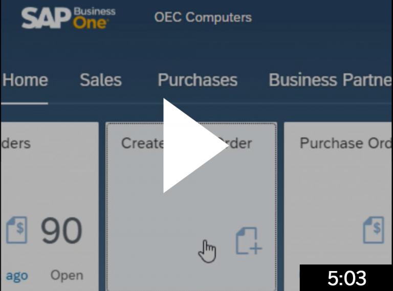 Create Sales Orders 5 min